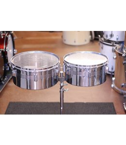 Ludwig Used Timbales 13 and 14 in w/ Ludwig Stand