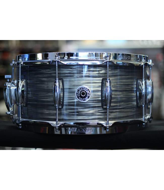 Gretsch Brooklyn 6 5x14 Snare Drum w/Lightning Throwoff Grey Oyster - Floor  Model
