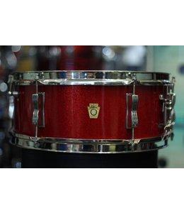 Ludwig Vintage Ludwig 1965 Red Sparkle Pioneer Snare Drum