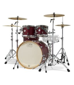 DW DW Design Series 4 pc Shell Pack Limited Satin Dark Cherry