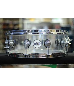 DW Used DW Design Acrylic 5.5 x14 in Snare Drum