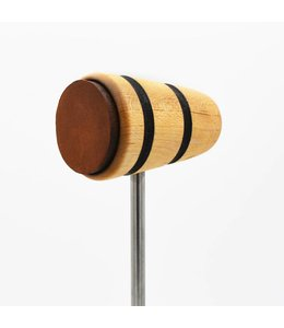 Low Boy Low Boy Leather Daddy Bass Drum Beater - Natural with Black Stripes
