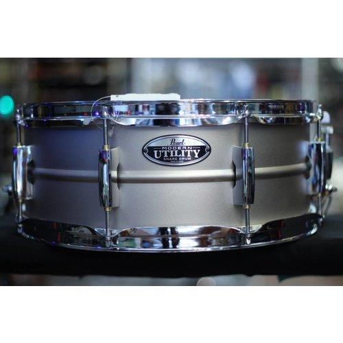 """Pearl Pearl Modern Utility 5.5 x 14"""" Beaded Steel Snare Drum"""