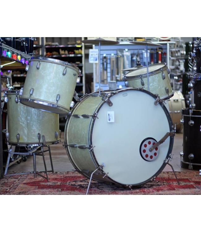 Slingerland Vintage 1940's Slingerland Radioking Set With Hardware & Cymbals