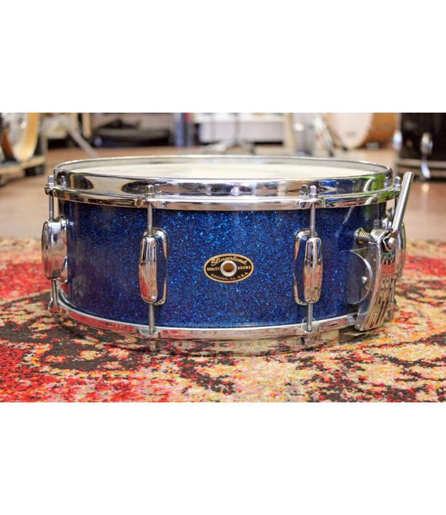 Slingerland Vintage Slingerland 1950's Krupa Model Snare Drum Blue Sparkle With Case