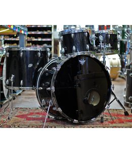 Slingerland Used 1980's Slingerland 4pc Black Shell Pack