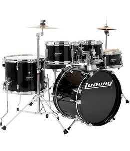 Ludwig Ludwig Accent Jr 5 Piece Black Drum Kit