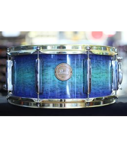 Pearl Used Pearl LE Snare 6.5x14 Blue Fade w/ Gold Hardware