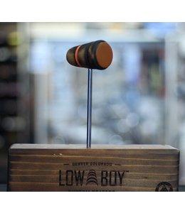 Low Boy Low Boy Leather Daddy Bass Drum Beater - Burnt w/ Orange Stripe