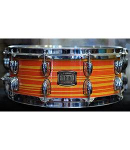 Yamaha Used Yamaha Club Custom 14x5.5 in Snare Drum - Orange Swirl Lacquer