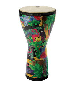 Remo Remo Kids Percussion 8 in Fabric Rain Forest Djembe