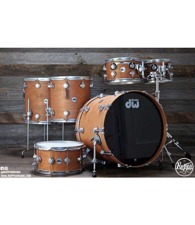 DW DW Collectors Series Pure Birch 6pc Shell Pack w/Satin Chrome Hardware
