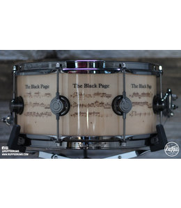 DW DW 6.5 x 14 Black Page Limited Edition Snare Drum
