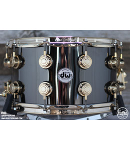 DW DW 8 x14 in Collectors Black Nickel over Brass Snare Drum w/Gold Hardware