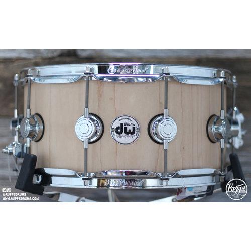 DW DW 6.5x14 Collectors Series Maple Satin Oil Snare Drum 10+6 VLT Chrome Hardware