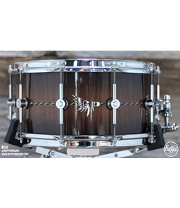 Hendrix Drums Hendrix Drums 14 x 7 in Gloss Walnut Burst Stave Snare w/deco inlay