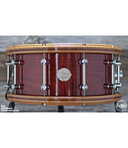 Doc Sweeney Doc Sweeney 6x14 Steambent Cherry W Maple Hoop Snare