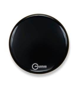 Aquarian Aquarian Regulator No Hole Gloss Black Bass Drumhead
