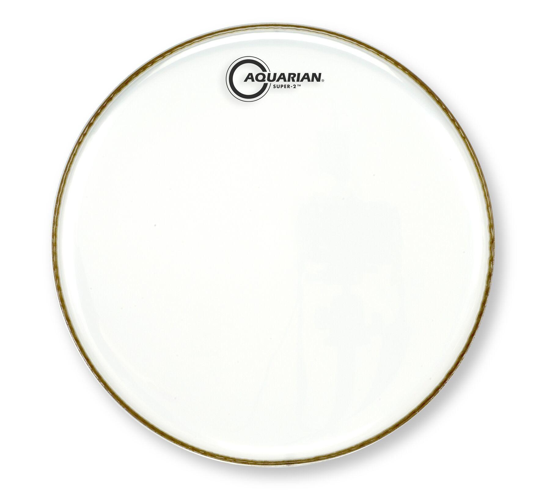 Aquarian 16/'/' Super-2 Clear Drumhead