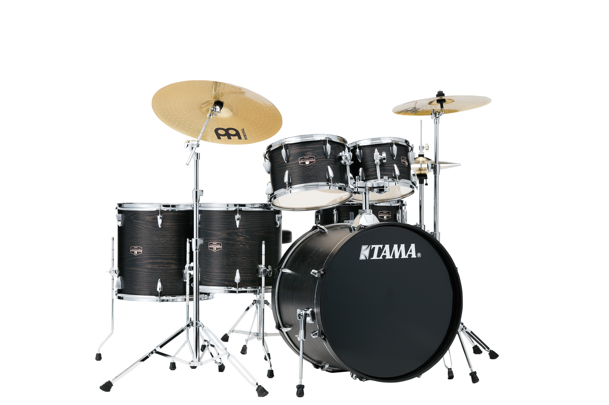 Tama Imperialstar 6pc Drum Set w/ 22 in Bass Drum and Meinl HCS Cymbals