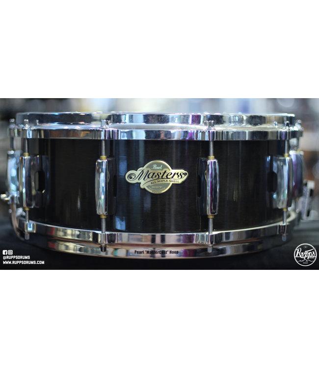 Pearl Used Pearl Masters Snare Drum - Black Silk