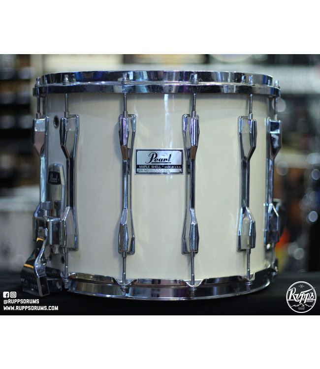 Pearl Used Pearl 12x14 in Marching Snare Drum-White