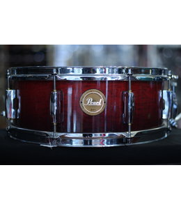 """Pearl Used Pearl Limited Edition 14x5.5"""" Snare Drum Birch Burnt Ember"""