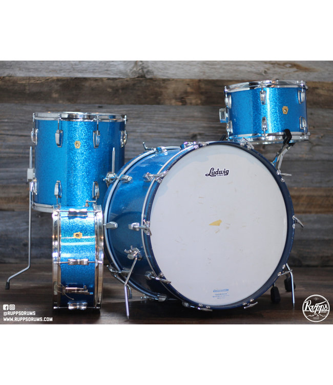 Ludwig VIntage 60's Ludwig Blue Sparkle 4pc Shell Pack