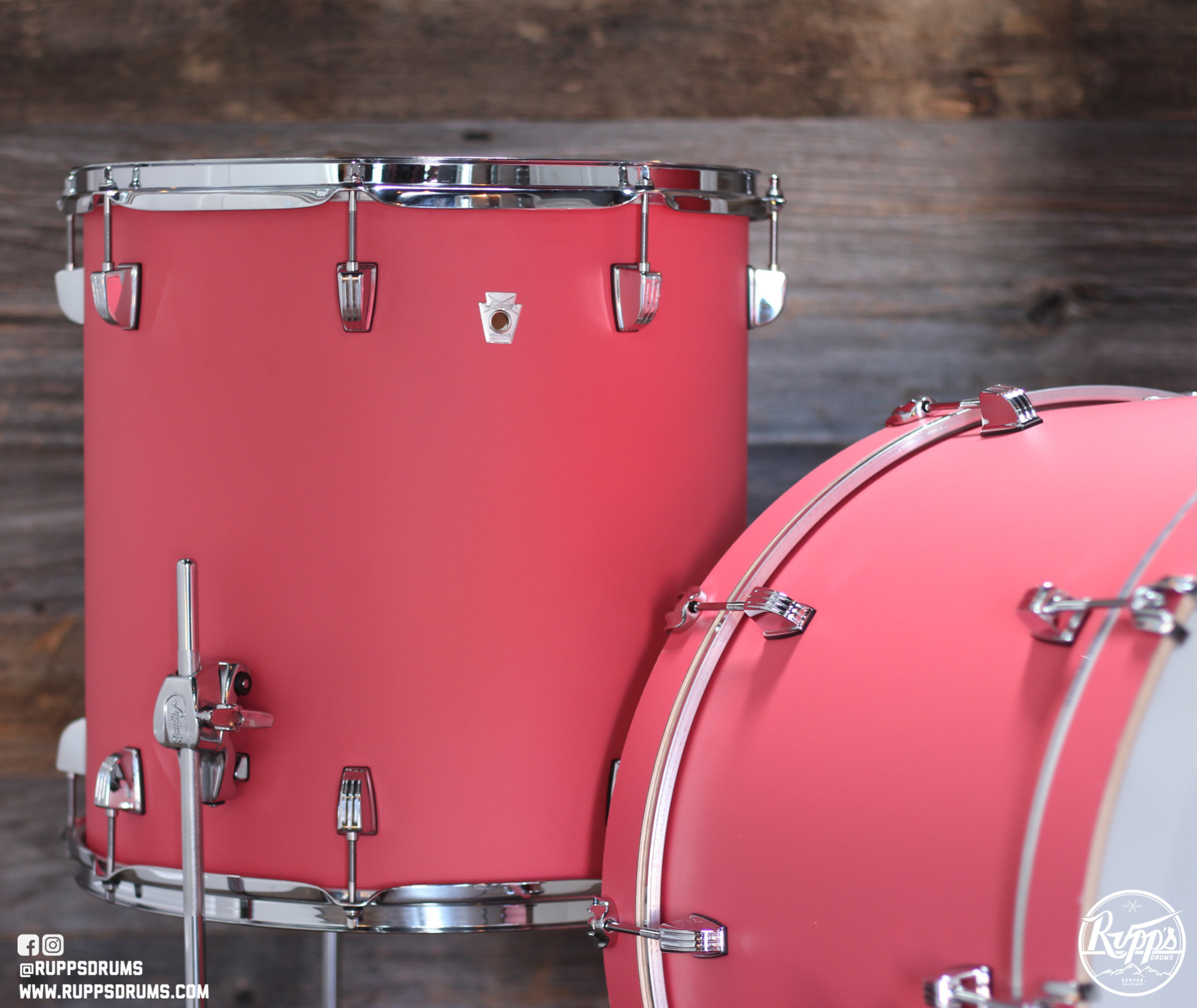 Ludwig Nuesonic 3pc Shellpack - Coral Red