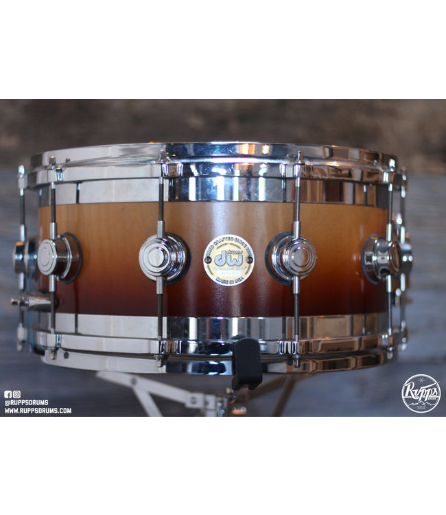 """DW Used DW 7""""x14"""" Edge Snare-Maple w/ Brass Edges"""