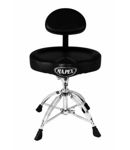 Mapex Mapex Saddle Top Drum Throne w/Back Rest And 4 Legs T775
