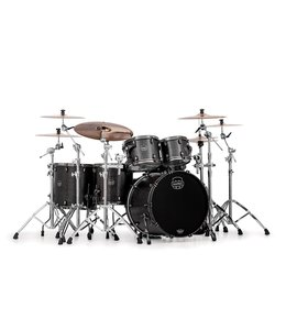 Mapex Mapex Saturn V MH Exotic Studioease 5 Piece Shell Pack w/o Snare Flat Black Maple Burl