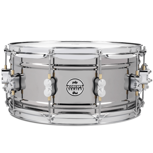 "PDP PDP Concept 1mm Black Nickel Over Brass 6.5x14"" Snare Drum"