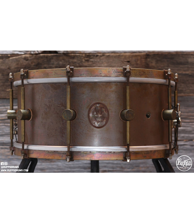 "A&F Drum Co. A&F Drum Co. 6.5""x14"" Raw Brass Standard Snare Drum"