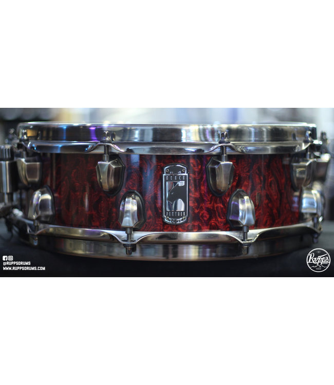 """Mapex Used Mapex 4x14"""" in Black Panther Russ Miller Versatus Snare Drum"""