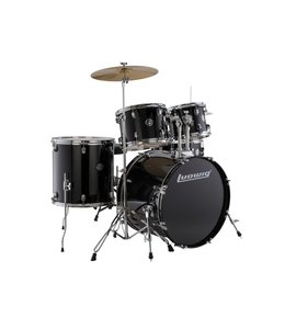 Ludwig Ludwig Accent Drive 5pc Black Drum Set