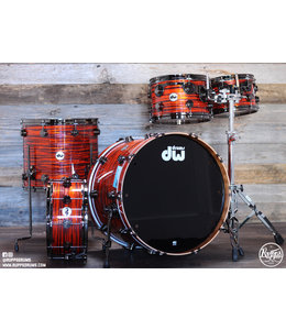 DW DW Collectors Pure Cherry 5pc Shellpack - Tiger Oyster w/ Black Nickel Hardware