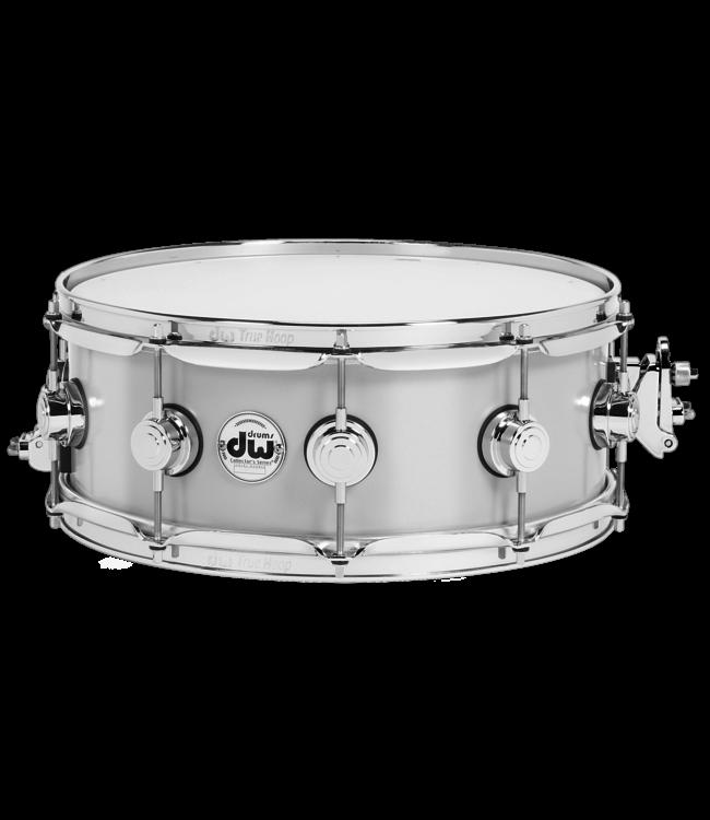 """DW DW 5.5 x 14"""" Aluminum Collectors Snare Drum - Chrome Hardware"""