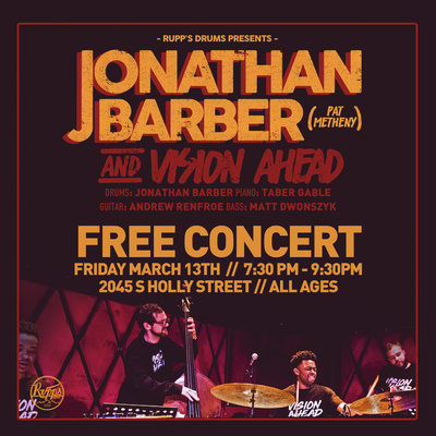 Jonathan Barber FREE Concert & Private Lessons!