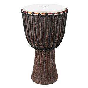 TYCOON Tycoon African Rope Tuned Lava Wood Finish Djembe