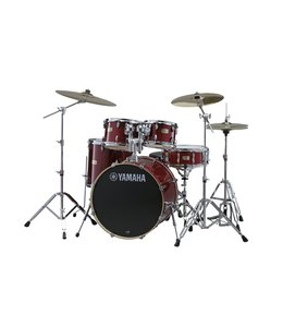 "Yamaha Yamaha Stage Custom 5pc 22"" Shell Pack Cranberry Red"