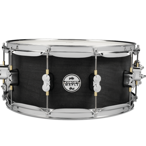 PDP PDP 10-Ply Maple Snare Drum with Black Wax Finish & Chrome Hardware