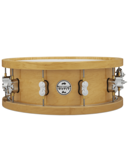 PDP PDP 20-Ply Maple Snare Drum w/ Thick Wood Hoops, Natural Lacquer w/ Chrome HW