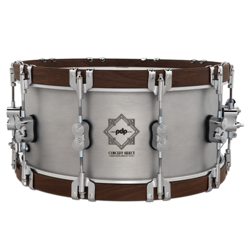 PDP PDP 6.5x14 Concept Select 3mm Aluminum Snare Drum w/ Walnut Wood Hoops