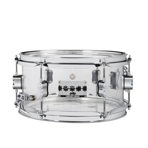 PDP PDP Chad Smith Clear Acrylic Snare Drum w/ Chrome HW