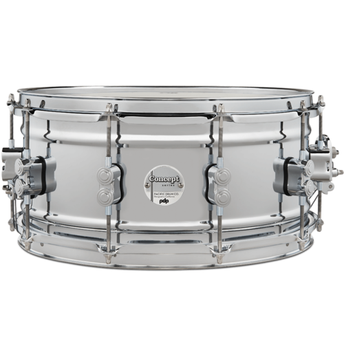 "PDP PDP Concept 1mm Chrome over Steel 6.5x14"" Snare Drum"