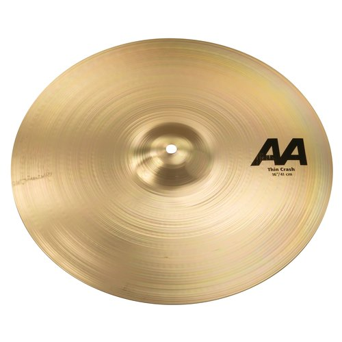 "Sabian Sabian 16"" AA Thin Crash Brilliant Finish"