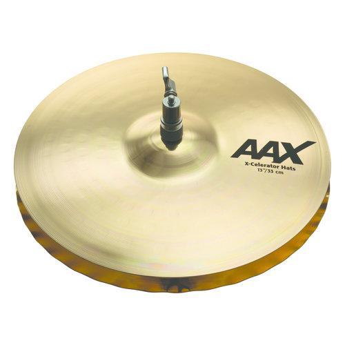 "Sabian Sabian 13"" AAX X-Celerator Hi-Hats Brilliant Finish"