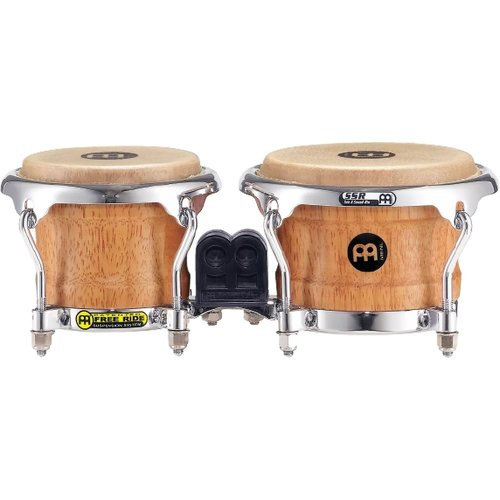 "Meinl Meinl Mini Wood 3 1/2""  & 4 1/4"" Bongos Super Natural"