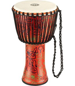 "Meinl Meinl 12"" Rope Tuned Travel Djembe in Pharaoh's Script - Goat Skin"